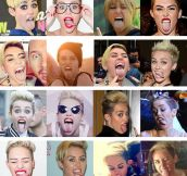 Miley's tongue…