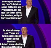 Comedian explains why he doesn't joke about Muslims…