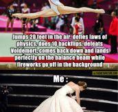 Olympic gymnast vs. me…