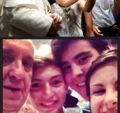 Selfie with The Pope…