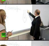 Putin the joker…
