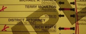 A candidate with a very unfortunate name…
