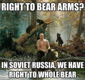 Right to bear arms…