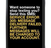 Want someone to stop texting you?