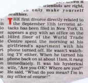The first divorce directly related to the September 11th attacks…
