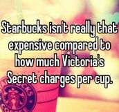 Starbucks isn't really that expensive…