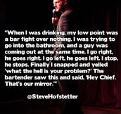 A bar fight over nothing…