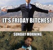 The story of my weekends…
