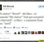 How Facebook statuses work…
