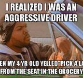Aggressive driver…
