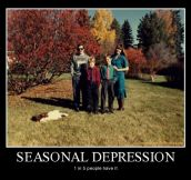 Seasonal depression…
