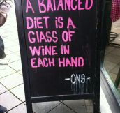 The recipe of a balanced diet…