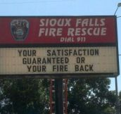 Firefighters with a sense of humor…
