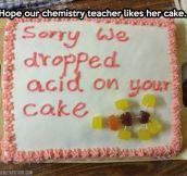 Chemistry cake…