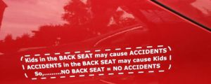 No back seat, no accidents…