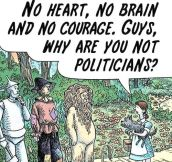 Wizard of Oz politics…
