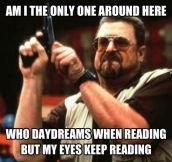 Daydreaming while reading books…