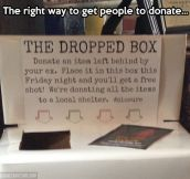 How to get people to donate…