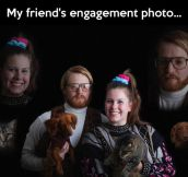 Epic engagement photo…