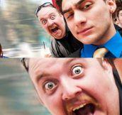 Surprise photobomb…
