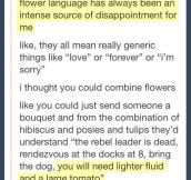 Let's redefine flower language…