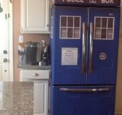 A TARDIS that you finally pull to open…