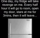 The fridge revenge…
