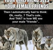 Male friends…