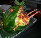 So my friend made a fruit salad…