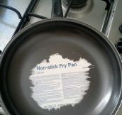 Non-stick they said…