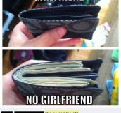 Girlfriend vs. no girlfriend…