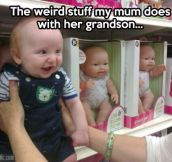 The crazy adventures of weird grandma…