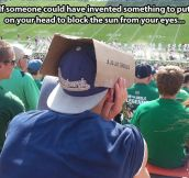 If you just turned your hat around…