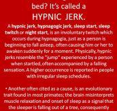 Falling sensation in bed…
