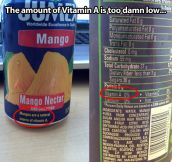 Natural source of vitamin A…