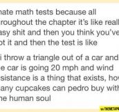 In every math test…