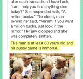 Gramps got game…