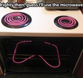 Time to use the microwave…