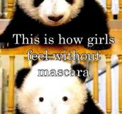 How girls feel without mascara…