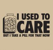 I used to care…