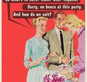 No alcohol at this party…