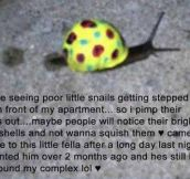 Save the snails…