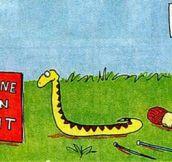 Poor little snake…