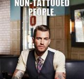 Tattooed people don't judge…