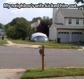 Kicked out the house…