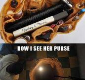 A woman's purse…