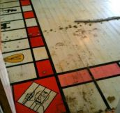 A man found a giant monopoly set under his Carpet!!