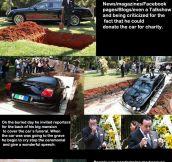 BURYING A MILLION DOLLAR BENTLEY
