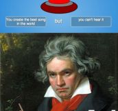 Beethoven Pressed the Button