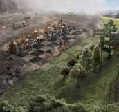 Man vs. Environment. Cool concept